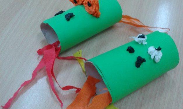 Smok z rolki po papierze