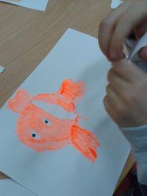 Tydzień bajek - Nemo Dzień postaci z bajek Dzień Ryby Kwiecień Marlena Wrońska Prace plastyczne Prace plastyczne (Dzień Postaci z Bajek) Tematyczne