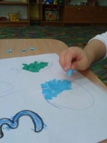 Utrwalanie cyfry 3 oraz figury geometrycznej - koła Dzień Matematyki Kreatywnie z dzieckiem Marlena Wrońska Nauka kształtów