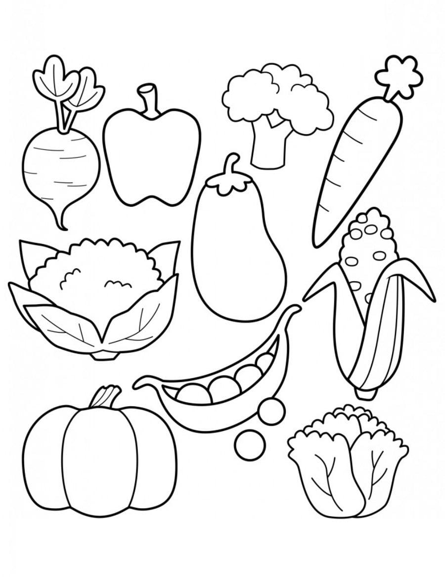 Jesień Warzywa Kolorowanki 1 Jesienne Malowanki Dla Dzieci Do Druku