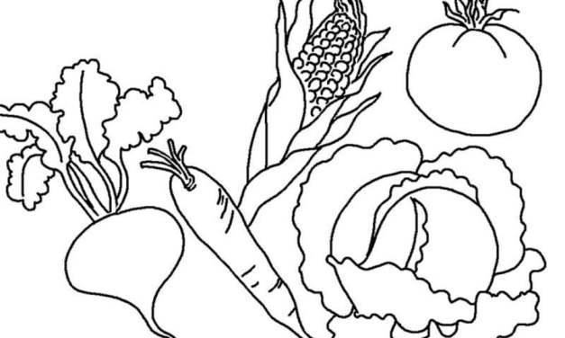 Jesień: warzywa – kolorowanka 1