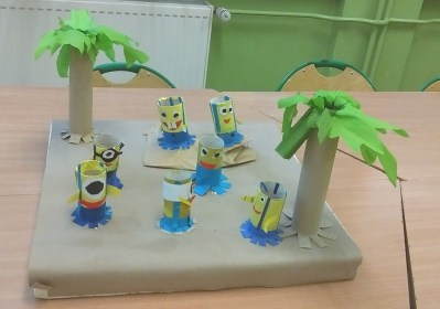 Wyspa Minionków Dzień postaci z bajek Izabela Kowalska Postacie (Prace plastyczne) Prace plastyczne Prace plastyczne (Dzień Postaci z Bajek)