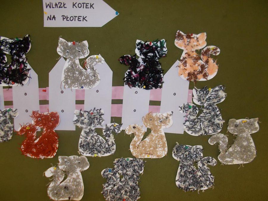 Koty Joanna Chorabik Kreatywnie z dzieckiem Prace plastyczne Światowy Dzień Kota Światowy Dzień Zwierząt Zwierzęta