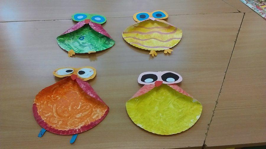Sowa z papierowych talerzyków Izabela Kowalska Jesień Jesień (Prace plastyczne) Prace plastyczne Prace plastyczne (Dzień Zwierząt) Prace plastyczne (Jesień) Światowy Dzień Zwierząt