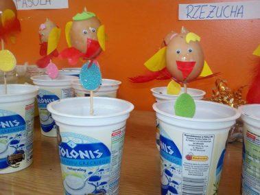 Kurczak z wydmuszki (rzeżucha) Monika Okoń Prace plastyczne Prace plastyczne (Dzień Zwierząt) Prace plastyczne (Wielkanoc) Światowy Dzień Zwierząt Zwierzęta (Prace plastyczne)