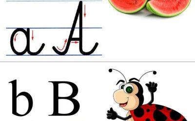 Alfabet: tabliczki z obrazkami