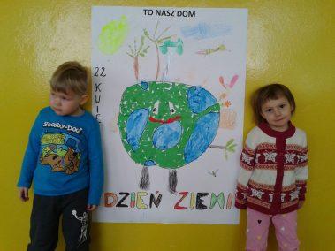 22 kwietnia Dniem Ziemi - plakat Dzień Ochrony Środowiska Dzień Ziemi Kreatywnie z dzieckiem Marlena Wrońska Światowy Dzień Dzikiej Przyrody