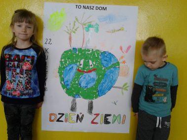 22 kwietnia Dniem Ziemi - plakat Dzień Ochrony Środowiska Dzień Ziemi Marlena Wrońska Prace plastyczne Prace plastyczne (Dzień Ziemi) Światowy Dzień Dzikiej Przyrody