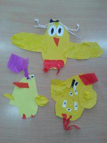 Kurczaczki - wycinanka Kreatywnie z dzieckiem Marlena Wrońska Prace plastyczne Prace plastyczne Światowy Dzień Zwierząt Wielkanoc Zwierzęta