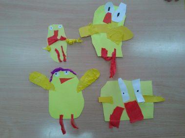 Kurczaczki - wycinanka Kreatywnie z dzieckiem Marlena Wrońska Prace plastyczne (Dzień Zwierząt) Prace plastyczne (Wielkanoc) Światowy Dzień Zwierząt Wielkanoc Zwierzęta