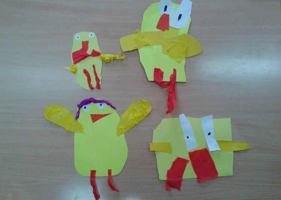 Kurczaczki – wycinanka