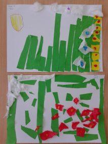 Kwiatki na łące z bibuły Kreatywnie z dzieckiem Marlena Wrońska Prace plastyczne (Wiosna) Rośliny Wiosna
