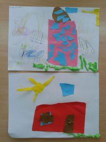 Mój dom - wycinanka Dzień Rodziny Marlena Wrońska Prace plastyczne
