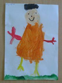 Mój tata (z użyciem farb plakatowych) Dzień Rodziny Dzień Taty Kreatywnie z dzieckiem Marlena Wrońska Postacie