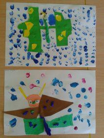 Motylki - wycinanka Lato Marlena Wrońska Prace plastyczne Prace plastyczne (Dzień Zwierząt) Prace plastyczne (Lato) Światowy Dzień Zwierząt Wiosna (Prace plastyczne) Zwierzęta (Prace plastyczne)