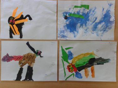 Piesek malowany farbkami Dzień Kundelka Marlena Wrońska Prace plastyczne Prace plastyczne (Dzień Kundelka) Prace plastyczne (Dzień Zwierząt) Światowy Dzień Zwierząt Zwierzęta (Prace plastyczne)