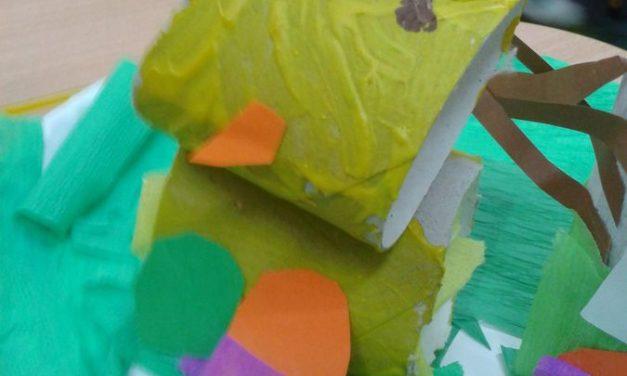 Wielkanocne stroiki – papierowe talerzyki