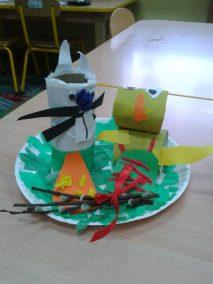 Wielkanocne stroiki - papierowe talerzyki Marlena Wrońska Prace plastyczne Prace plastyczne (Wielkanoc) Wielkanoc (Prace plastyczne)