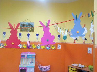 Zajączki zawieszki Monika Okoń Prace plastyczne Prace plastyczne (Dzień Zwierząt) Prace plastyczne (Wielkanoc) Światowy Dzień Zwierząt Wielkanoc (Prace plastyczne) Zwierzęta (Prace plastyczne)