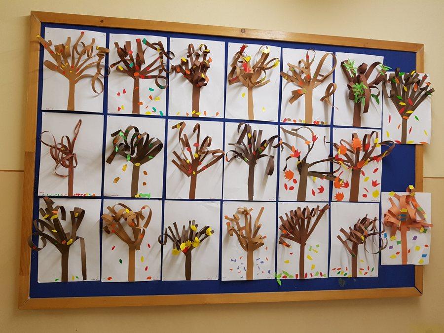 Drzewka przestenne Daria Kur Dzień Drzewa Dzień Lasu Jesień Jesień Kreatywnie z dzieckiem Prace plastyczne Prace plastyczne Rośliny