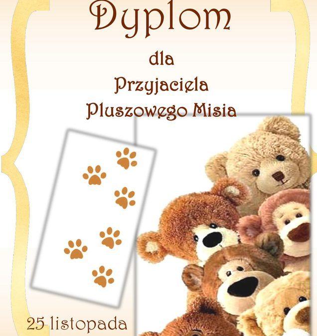 Dyplom Przyjaciela Pluszowego Misia