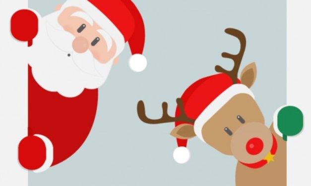 Mikołaj i renifery