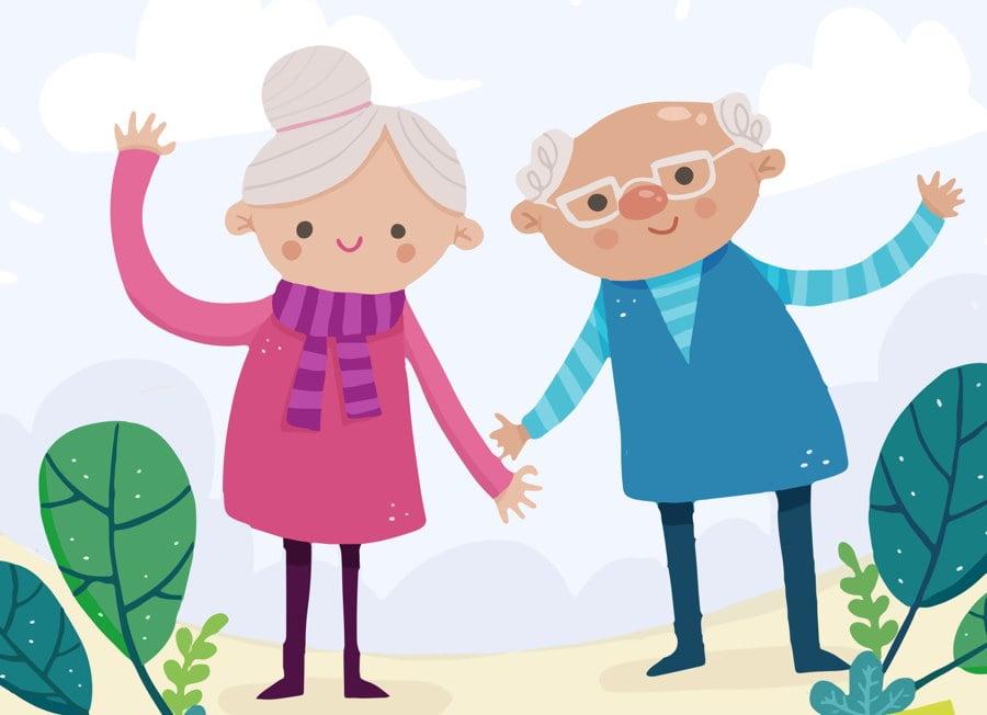 Odlotowa babcia i najsłodszy dziadek Agata Dziechciarczyk Dzień Babci i Dziadka Dzień Babci i Dziadka (Wierszyki) Dzień Rodziny (Wierszyki) Wierszyki