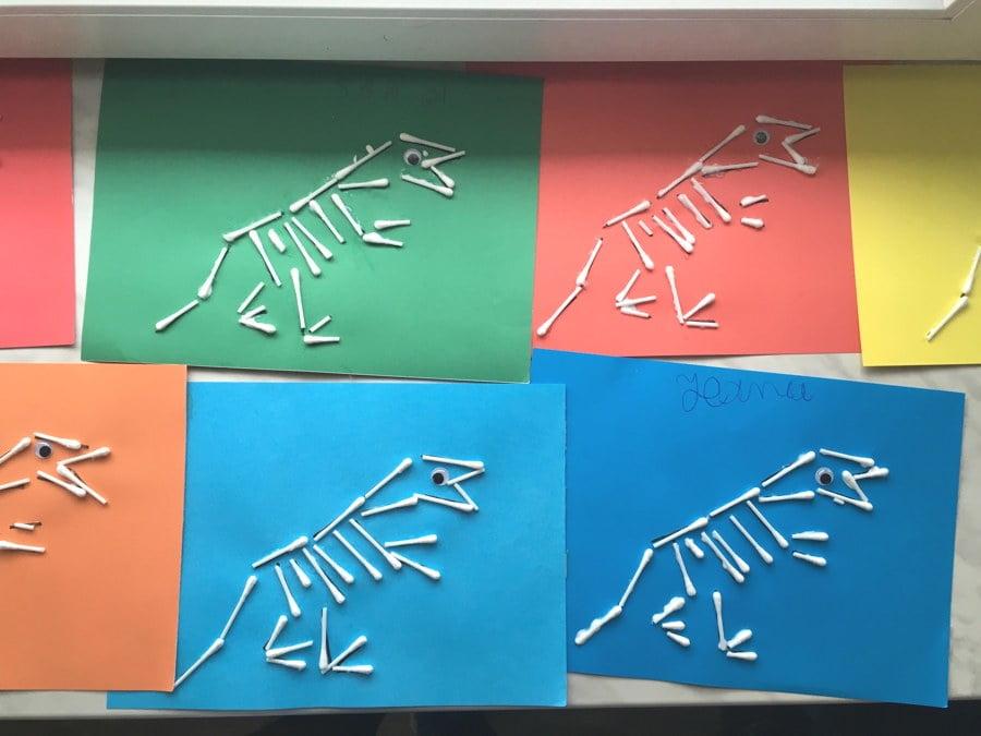 Szkielet dinozaura Dzień Dinozaura Kreatywnie z dzieckiem Patrycja Sulej