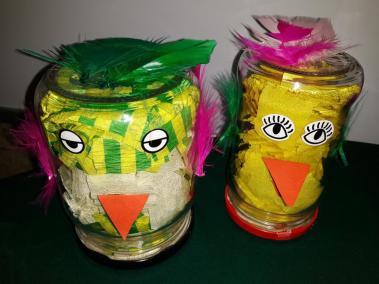 Kurczaczki ze słoika Małgorzata Wojkowska Prace plastyczne Prace plastyczne (Na wsi) Prace plastyczne (Wielkanoc) Zwierzęta (Prace plastyczne)