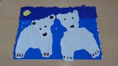 Dzień Niedźwiedzia Polarnego z bibuły Dzień Koloru Białego Dzień Niedźwiedzia Izabela Kowalska Kreatywnie z dzieckiem Zwierzęta