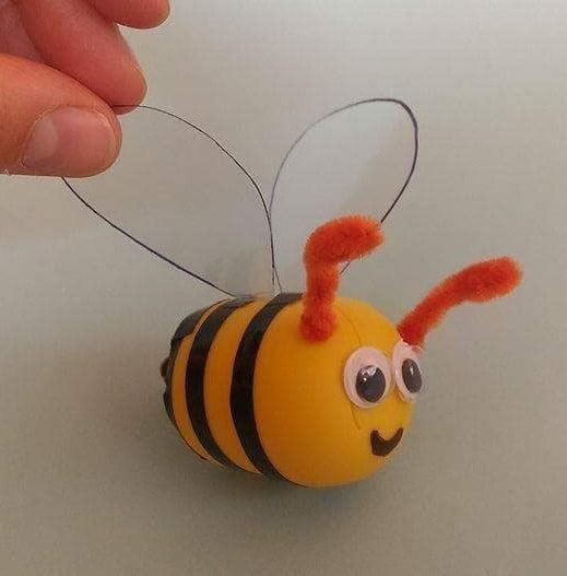 Pszczoły Z Opakowań Po Kinder Jajkach Zabawy Rozwijające