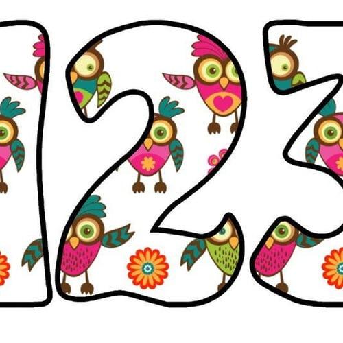 Zimorodek: litery okrągłe Litery i cyfry do tworzenia napisów Ptaki Zimorodek