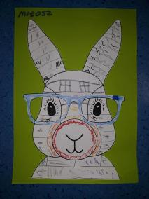 Wielkanocne zajączki w okularach Kreatywnie z dzieckiem Małgorzata Wojkowska Prace plastyczne (Wielkanoc) Wielkanoc