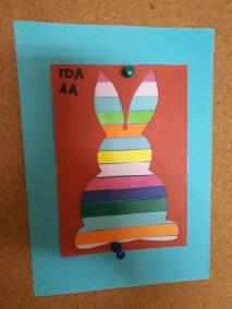 Wielkanocny zajączek w kolorowe paski Alicja Mazur Kreatywnie z dzieckiem Prace plastyczne Wielkanoc Wielkanoc