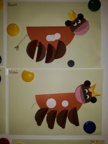 Krowa Mućka - z talerzyka Małgorzata Wojkowska Prace plastyczne Prace plastyczne (Dzień Zwierząt) Prace plastyczne (Na wsi) Światowy Dzień Zwierząt