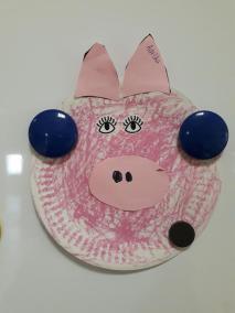 Psotna świnka z papierowych talerzyków Kreatywnie z dzieckiem Małgorzata Wojkowska Prace plastyczne Światowy Dzień Zwierząt Zwierzęta