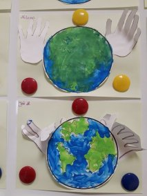 """Praca plastyczna """"Chronimy ziemię"""" Dzień Ochrony Środowiska Dzień Ziemi Małgorzata Wojkowska Prace plastyczne Prace plastyczne (Dzień Ziemi)"""