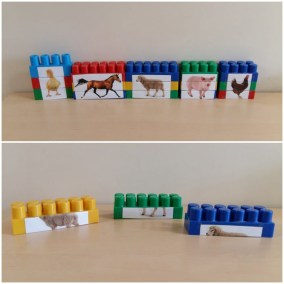 Klockowe puzzle – Zwierzęta ze wsi Katarzyna Kołodziejska Pomoce dydaktyczne Prace plastyczne (Światowy Dzień Zwierząt) Puzzle do wycinania Światowy Dzień Zwierząt