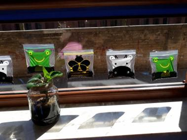 Praca grupowa - Zasadziliśmy fasolę Małgorzata Wojkowska Prace plastyczne Wiosna Wiosna