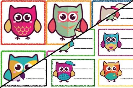 Znaczki przedszkolne – Sówki