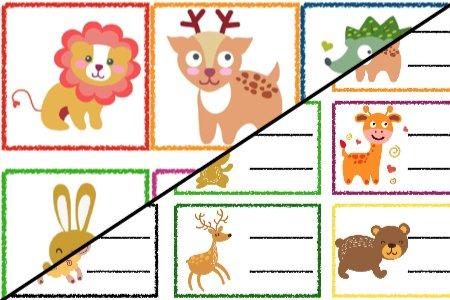 Znaczki przedszkolne – Zwierzęta