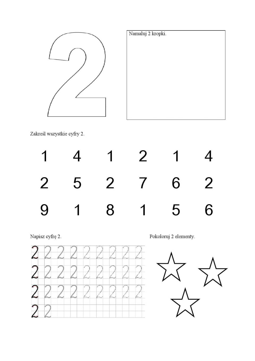Cyfry - karty pracy Anna Czerwiec Dzień Matematyki Matematyka Pomoce dydaktyczne