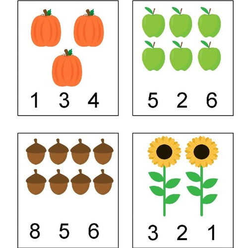 Jesień: Wypełnij kolorem (10 kart pracy) Jesień Karty pracy Karty pracy (Jesień) Wypełnij kolorem