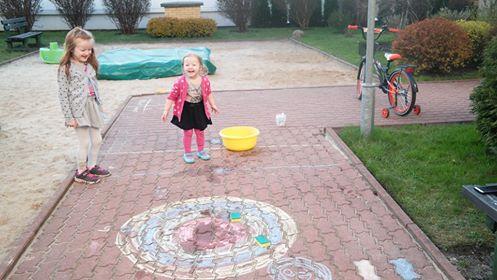 Kredowa tarcza - zabawa rzutna Aneta Grądzka-Rudziak Kreatywnie z dzieckiem