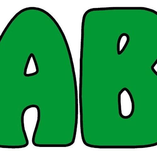 Zielone cyfry Kolorowe litery i cyfry Litery i cyfry do tworzenia napisów Zielone