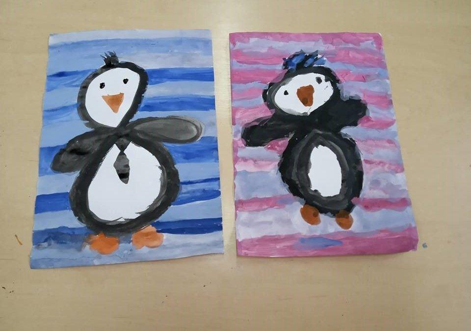 Leniwe ósemki – pingwinki