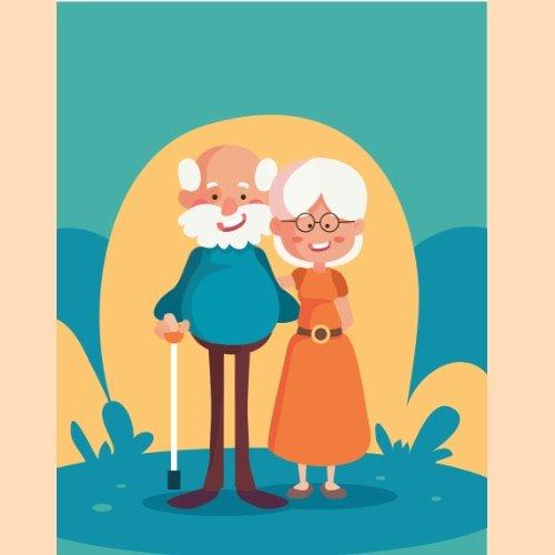 Kolorowanki XXL: Dzień Babci i Dziadka Dzień Babci i Dziadka Kolorowanki Kolorowanki XXL