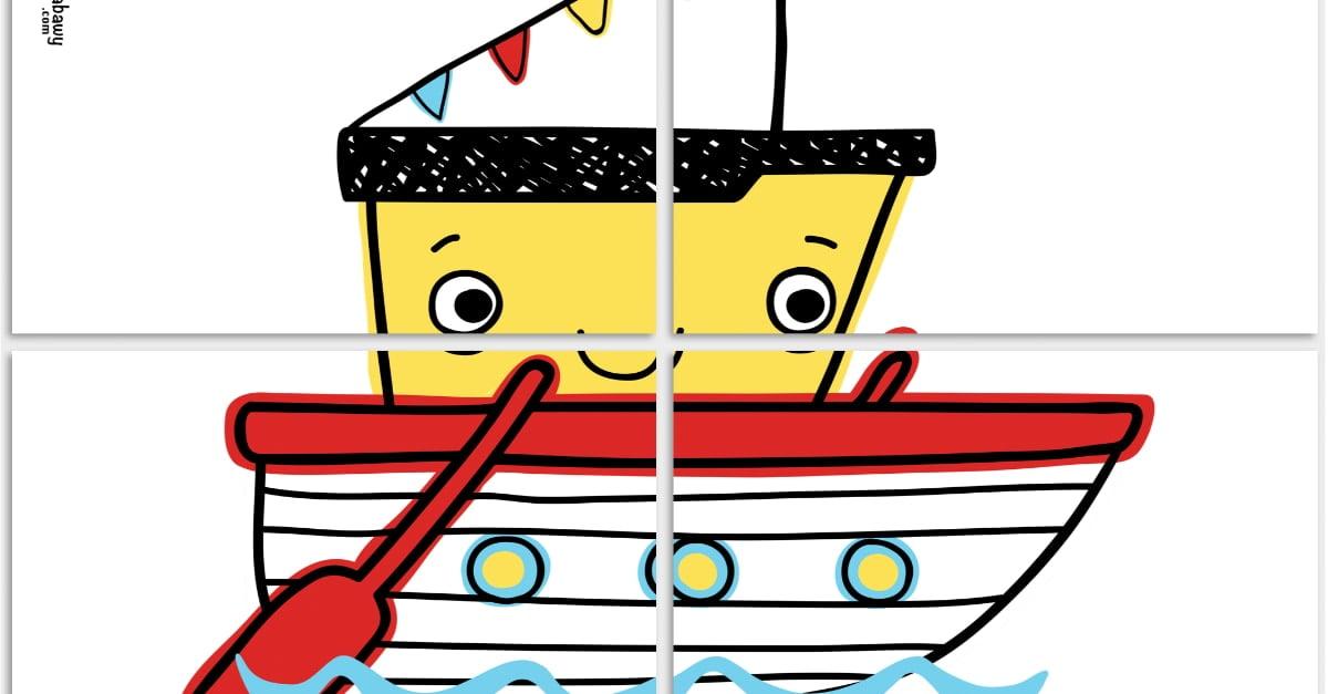 Dekoracje XXL: łódki, koła ratunkowe (10 szablonów)