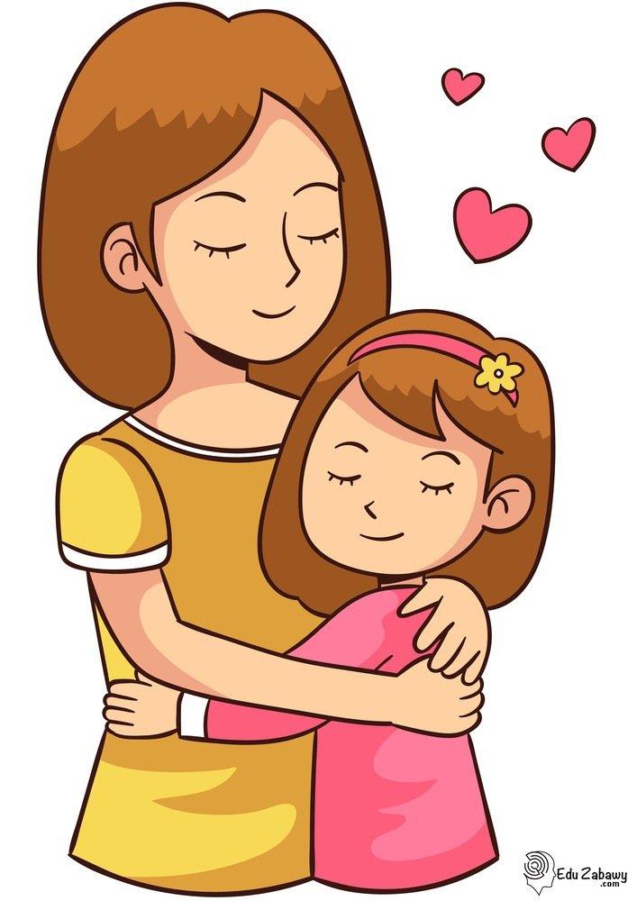 Dekoracje XXL - mama z córką do sali przedszkola, do pobrania i druku
