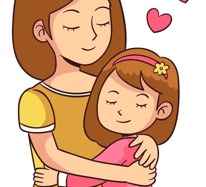 Dekoracje – mama z córką XXL (10 szablonów)